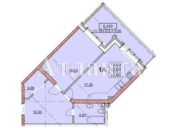Продается 1-комнатная квартира в новострое на ул. Гагаринское Плато — 55 780 у.е.