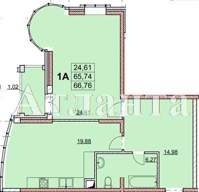 Продается 1-комнатная квартира в новострое на ул. Гагаринское Плато — 69 270 у.е.
