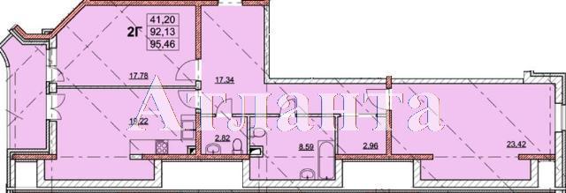 Продается 2-комнатная квартира в новострое на ул. Гагаринское Плато — 95 790 у.е.