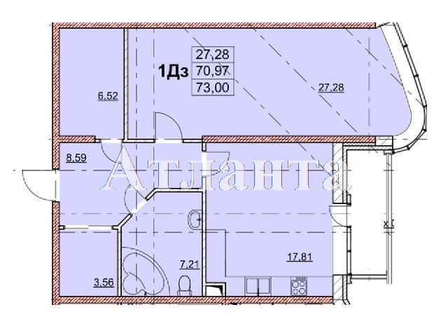 Продается 1-комнатная квартира в новострое на ул. Гагаринское Плато — 62 420 у.е.