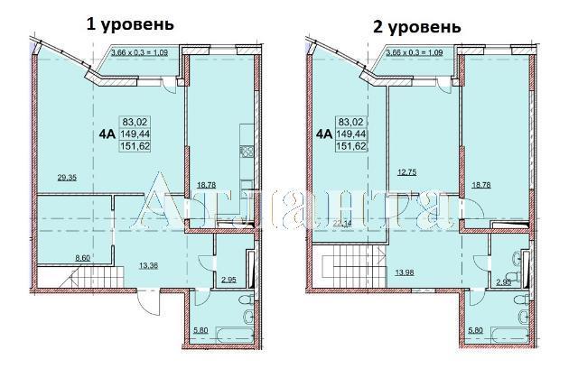 Продается Многоуровневая квартира в новострое на ул. Гагаринское Плато — 154 630 у.е.