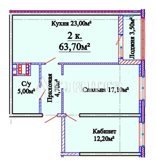 Продается 2-комнатная квартира в новострое на ул. Михайловская — 42 450 у.е.
