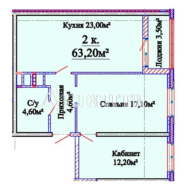 Продается 2-комнатная квартира в новострое на ул. Михайловская — 43 400 у.е. (фото №4)