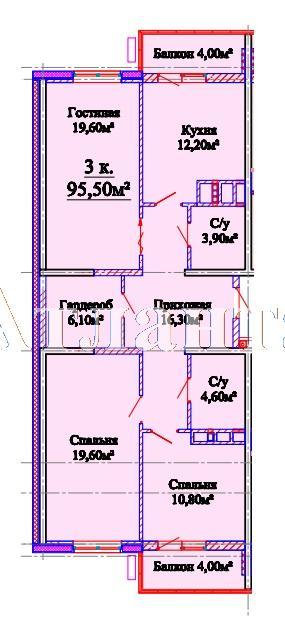 Продается 3-комнатная квартира в новострое на ул. Михайловская — 60 500 у.е. (фото №4)