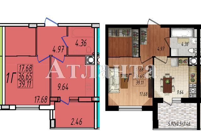 Продается 1-комнатная квартира в новострое на ул. Массив № 10 — 23 270 у.е.