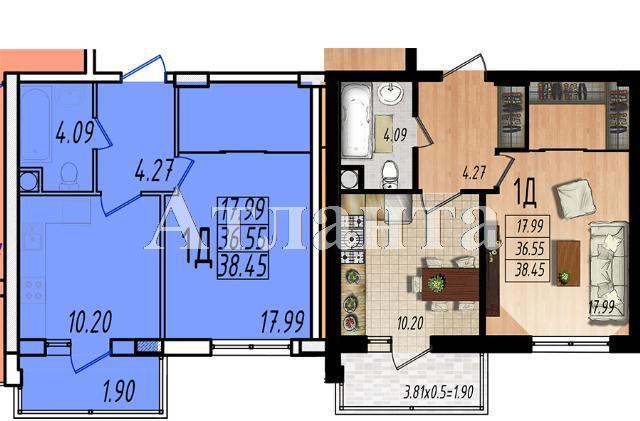 Продается 1-комнатная квартира в новострое на ул. Массив № 10 — 22 880 у.е.