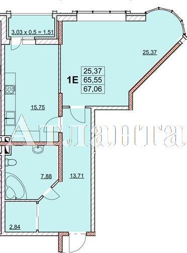Продается 1-комнатная квартира в новострое на ул. Гагаринское Плато — 73 920 у.е.