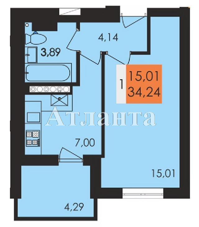 Продается 1-комнатная квартира в новострое на ул. Заболотного Ак. — 17 870 у.е.