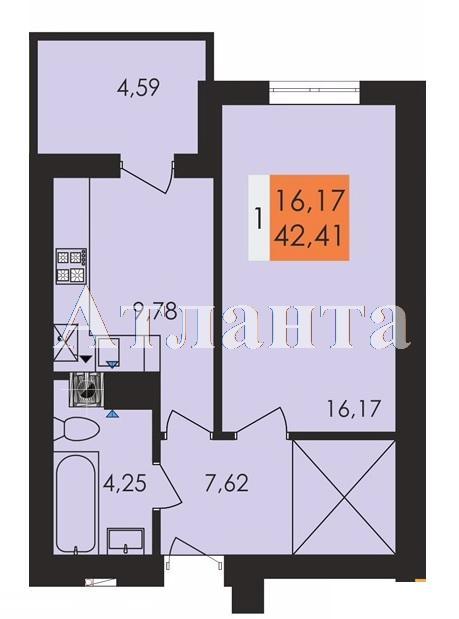 Продается 1-комнатная квартира в новострое на ул. Заболотного Ак. — 22 140 у.е.