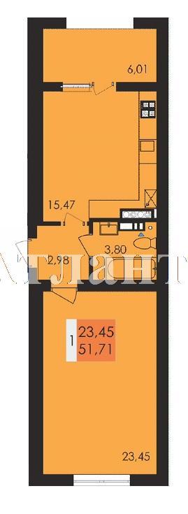 Продается 1-комнатная квартира в новострое на ул. Заболотного Ак. — 26 920 у.е.