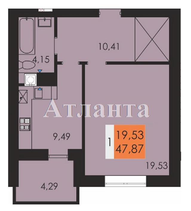 Продается 1-комнатная квартира в новострое на ул. Заболотного Ак. — 24 990 у.е.