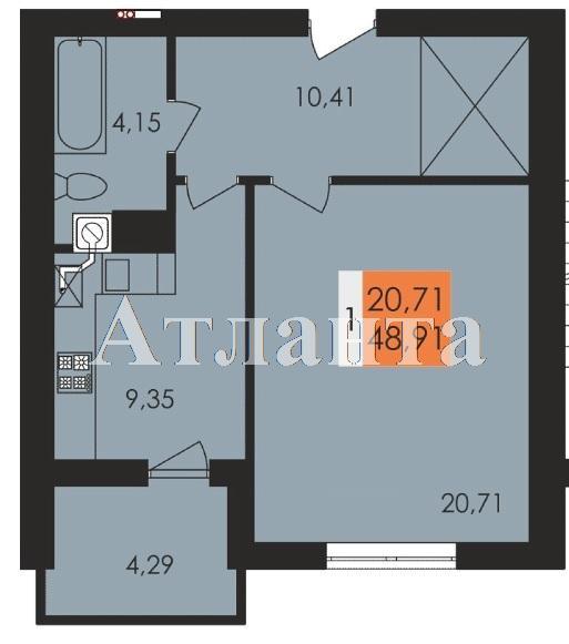 Продается 1-комнатная квартира в новострое на ул. Заболотного Ак. — 25 530 у.е.