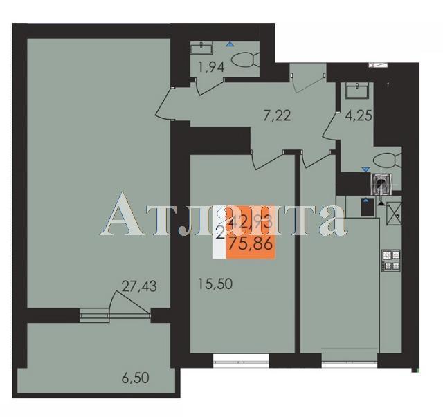 Продается 2-комнатная квартира в новострое на ул. Заболотного Ак. — 39 570 у.е.