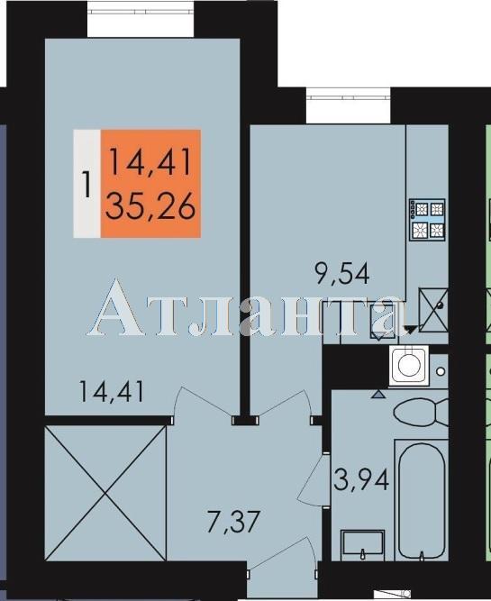 Продается 1-комнатная квартира в новострое на ул. Заболотного Ак. — 18 400 у.е.