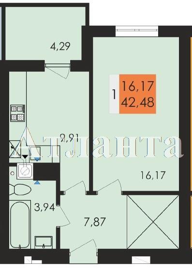 Продается 1-комнатная квартира в новострое на ул. Заболотного Ак. — 22 170 у.е.