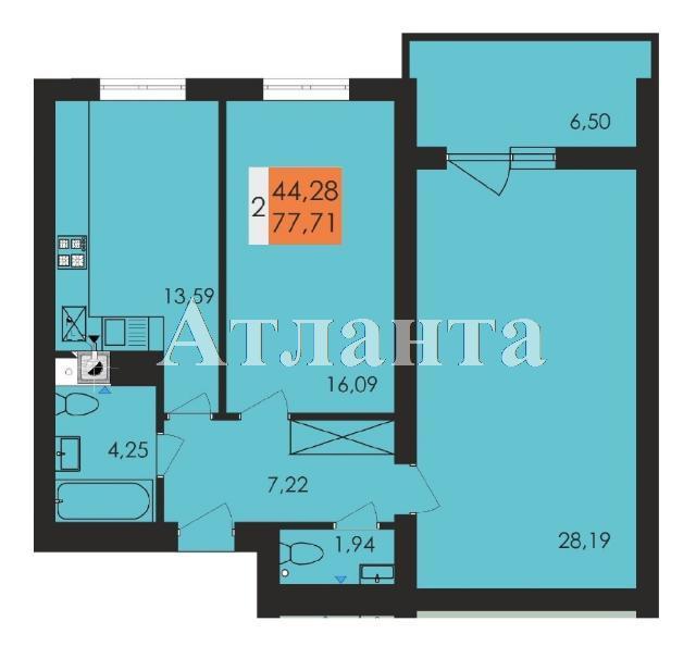 Продается 2-комнатная квартира в новострое на ул. Заболотного Ак. — 40 560 у.е.