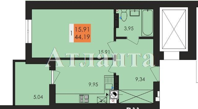 Продается 1-комнатная квартира в новострое на ул. Заболотного Ак. — 23 060 у.е.