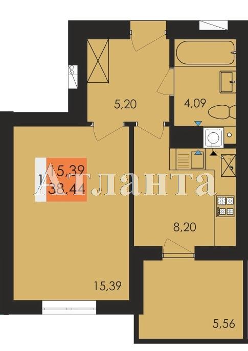 Продается 1-комнатная квартира в новострое на ул. Заболотного Ак. — 20 060 у.е.