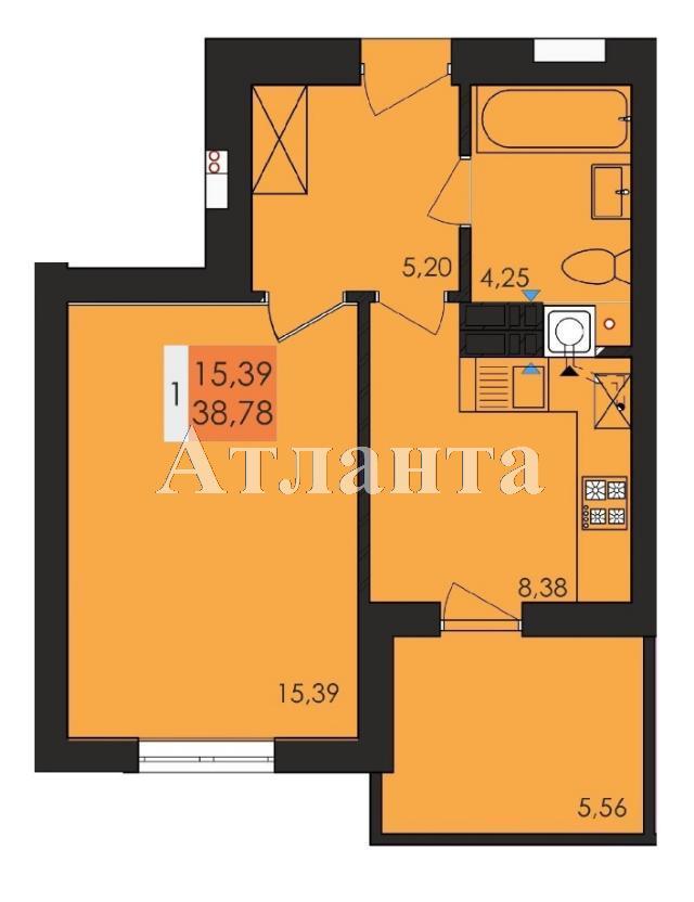 Продается 1-комнатная квартира в новострое на ул. Заболотного Ак. — 20 240 у.е.