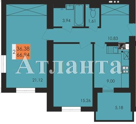 Продается 2-комнатная квартира в новострое на ул. Заболотного Ак. — 34 940 у.е.