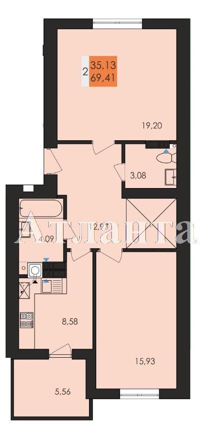 Продается 2-комнатная квартира в новострое на ул. Заболотного Ак. — 36 230 у.е.