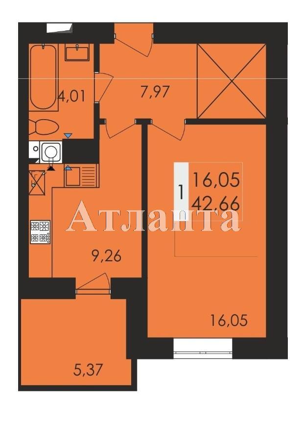 Продается 1-комнатная квартира в новострое на ул. Заболотного Ак. — 22 270 у.е.