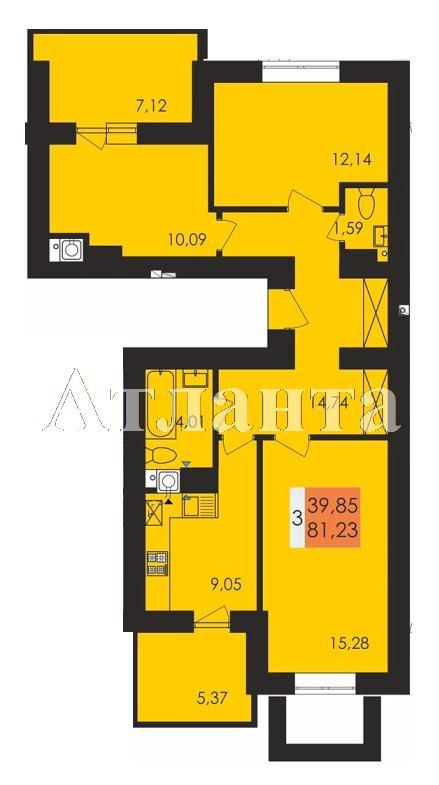 Продается 3-комнатная квартира в новострое на ул. Заболотного Ак. — 42 400 у.е.