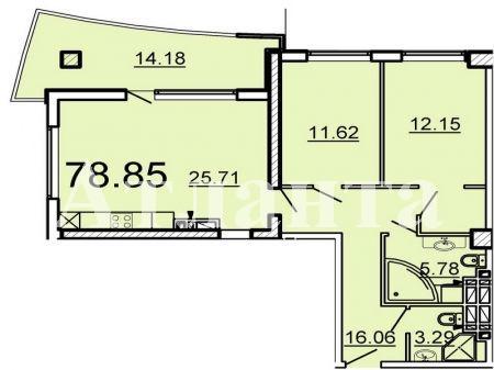 Продается 2-комнатная квартира в новострое на ул. Ванный Пер. — 106 450 у.е.