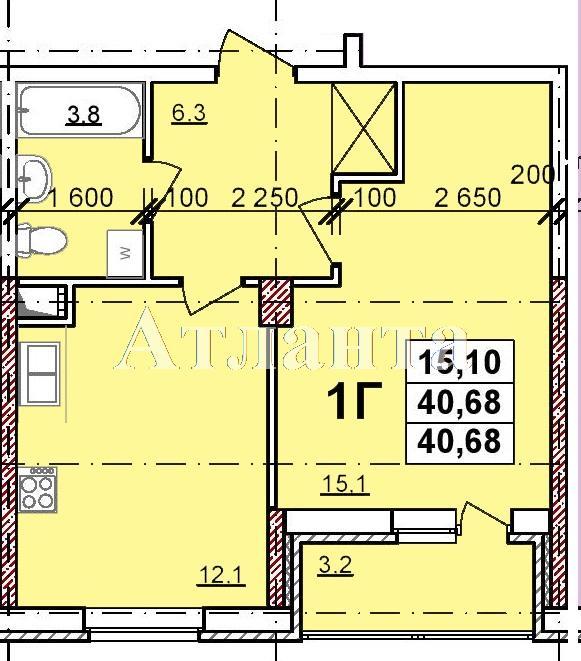 Продается 1-комнатная квартира в новострое на ул. Балковская — 28 080 у.е.