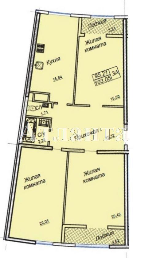 Продается 3-комнатная квартира в новострое на ул. Генуэзская — 109 000 у.е. (фото №4)