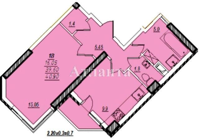 Продается 1-комнатная квартира в новострое на ул. Проценко — 27 120 у.е.