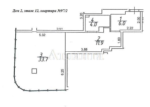 Продается 1-комнатная квартира в новострое на ул. Гагаринское Плато — 56 300 у.е.