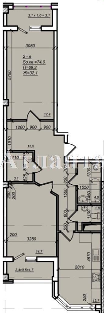 Продается 2-комнатная квартира в новострое на ул. Дюковская — 50 430 у.е. (фото №4)