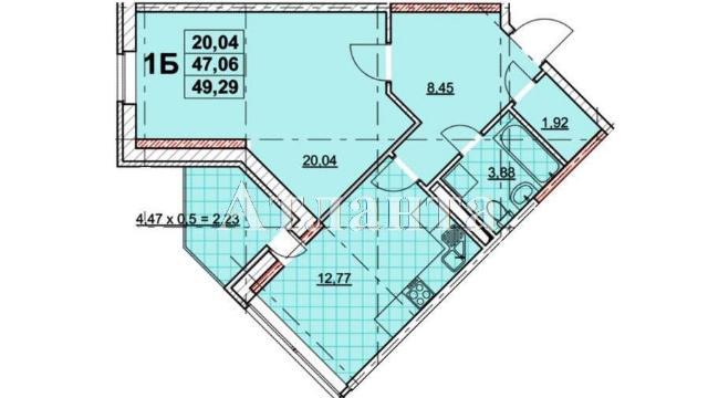 Продается 1-комнатная квартира в новострое на ул. Жаботинского — 38 700 у.е.