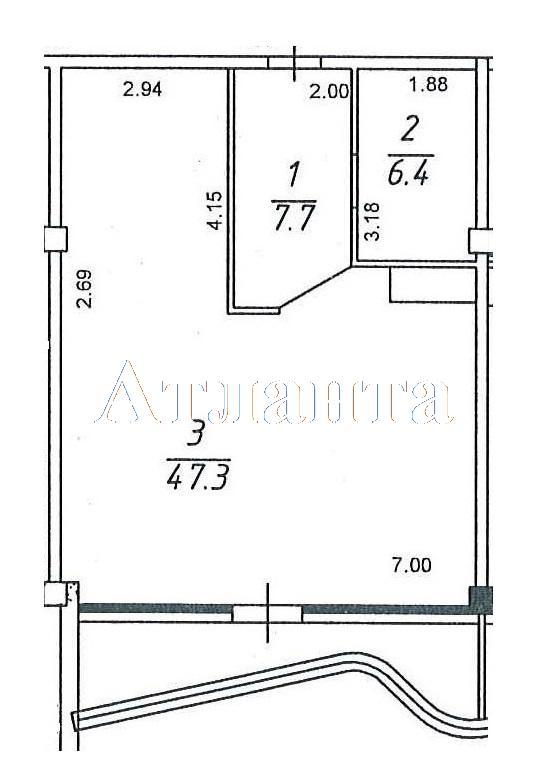 Продается 2-комнатная квартира в новострое на ул. Гагаринское Плато — 85 000 у.е.