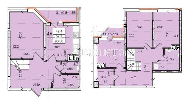 Продается Многоуровневая квартира в новострое на ул. Балковская — 55 900 у.е. (фото №3)