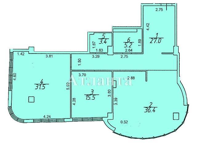 Продается 2-комнатная квартира в новострое на ул. Гагаринское Плато — 122 100 у.е.