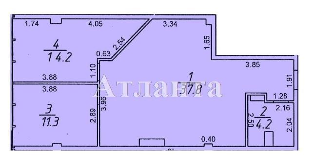 Продается 2-комнатная квартира в новострое на ул. Гагаринское Плато — 70 000 у.е.
