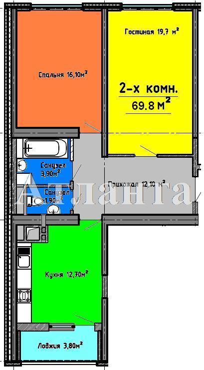 Продается 2-комнатная квартира в новострое на ул. Люстдорфская Дорога — 65 000 у.е. (фото №12)