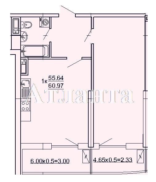 Продается 1-комнатная квартира в новострое на ул. Кордонный Пер. — 51 830 у.е.