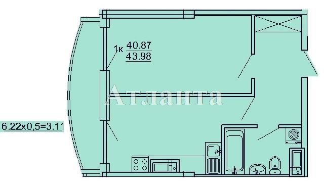 Продается 1-комнатная квартира в новострое на ул. Кордонный Пер. — 62 450 у.е.