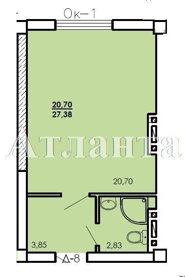 Продается 1-комнатная квартира в новострое на ул. Генерала Цветаева — 17 500 у.е. (фото №4)