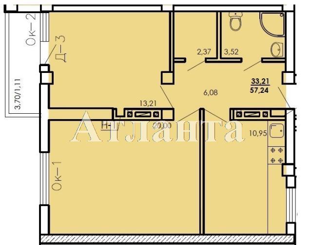Продается 2-комнатная квартира в новострое на ул. Генерала Цветаева — 31 500 у.е. (фото №4)
