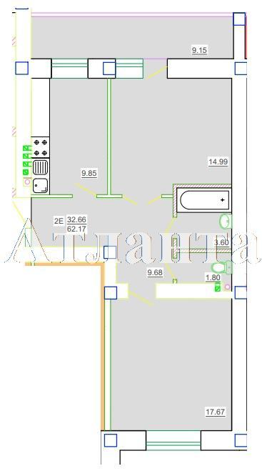 Продается 2-комнатная квартира в новострое на ул. Генерала Цветаева — 34 190 у.е.