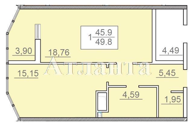 Продается 1-комнатная квартира в новострое на ул. Итальянский Бул. — 62 000 у.е.
