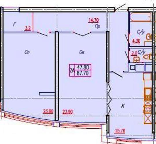 Продается 2-комнатная квартира в новострое на ул. Аркадиевский Пер. — 151 300 у.е.