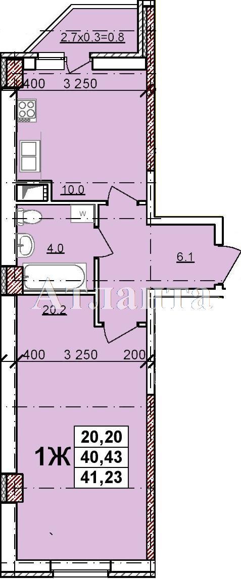 Продается 1-комнатная квартира в новострое на ул. Балковская — 28 290 у.е.