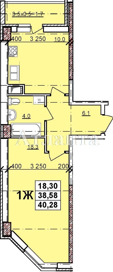 Продается 1-комнатная квартира в новострое на ул. Балковская — 27 740 у.е.