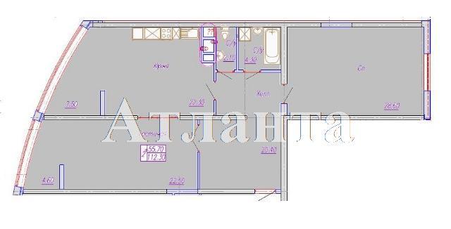 Продается 2-комнатная квартира в новострое на ул. Аркадиевский Пер. — 155 000 у.е. (фото №10)
