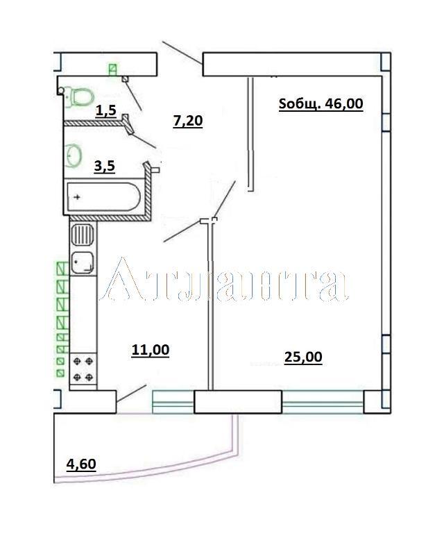 Продается 1-комнатная квартира в новострое на ул. Генерала Цветаева — 45 000 у.е. (фото №14)